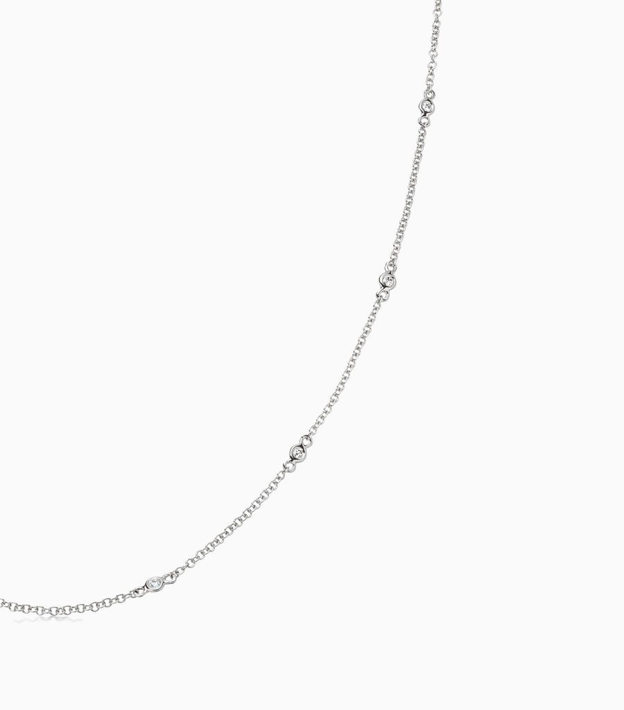 18 inch Fine Diamond Necklace White gold