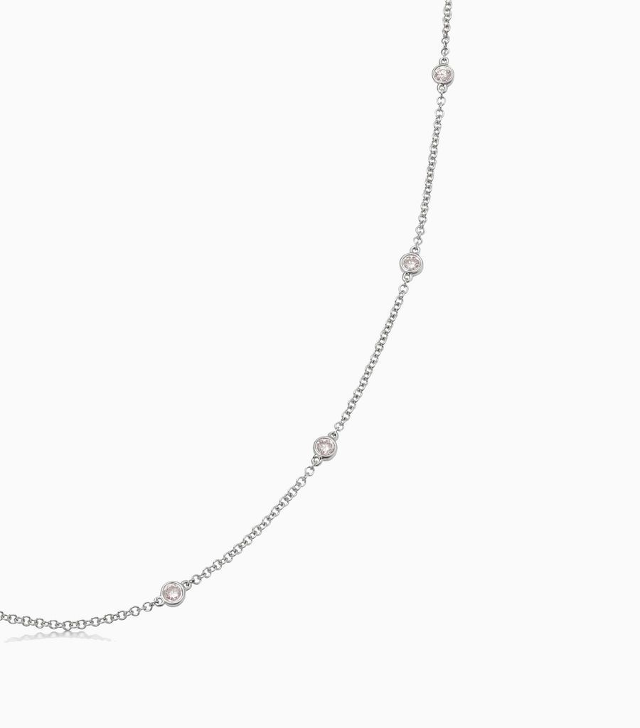 Fancy Pink Diamond Necklace