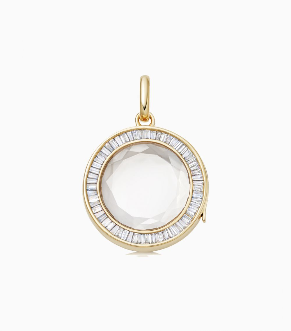 The Baguette Diamond Locket