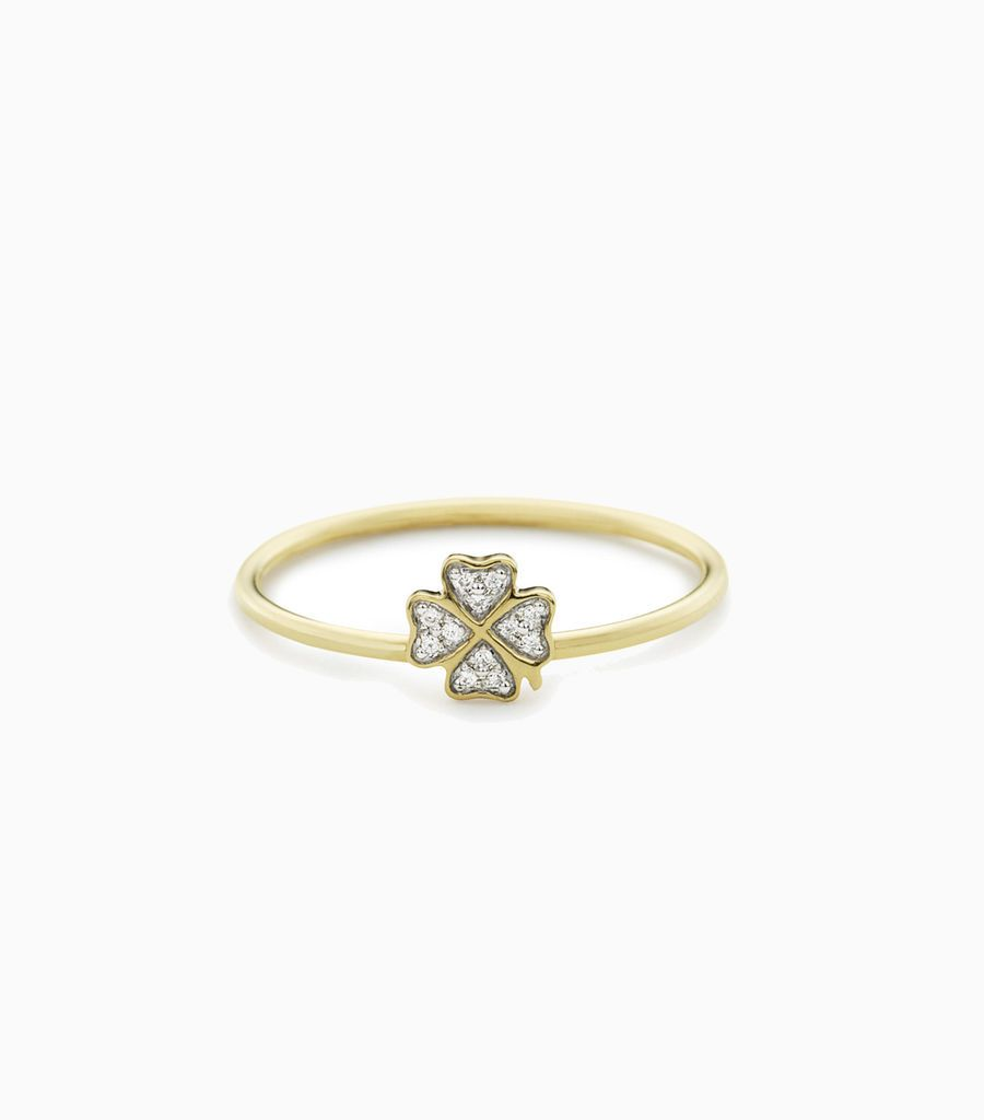 Four Leaf Clover Puzzle Ring Size 51