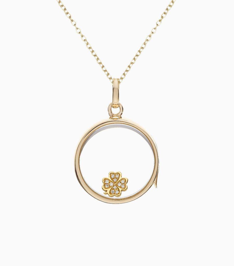 Diamond four leaf clover - Luck