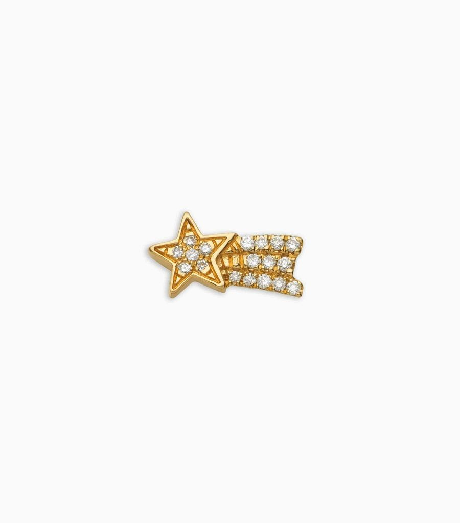 Dreams/nature, diamond, yellow gold 18kt, shooting star