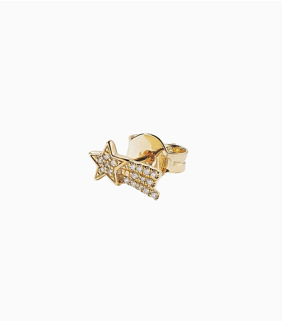 diamond yellow gold, 14k, diamond shooting star studs (builder-list)