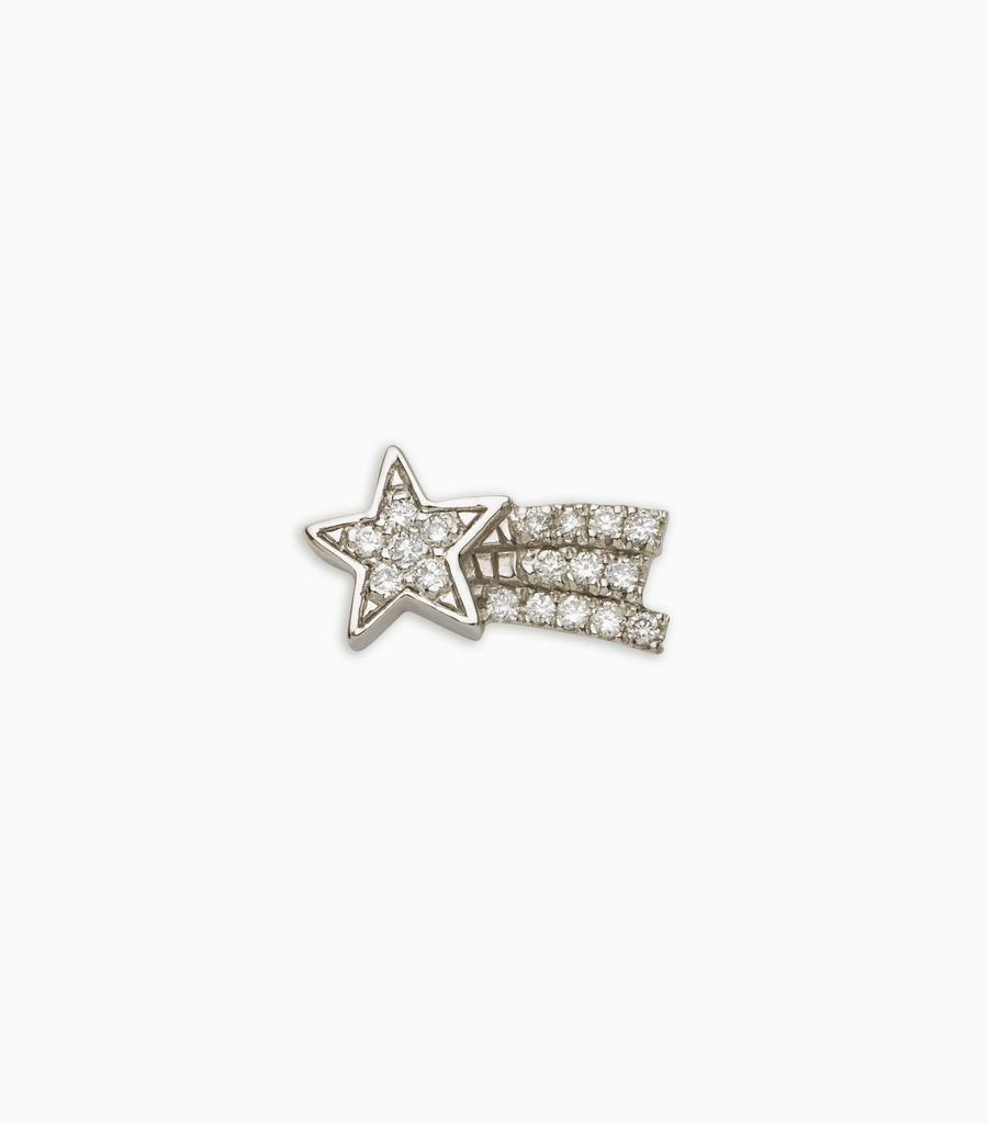 diamond white gold, 18kt, diamond shooting star