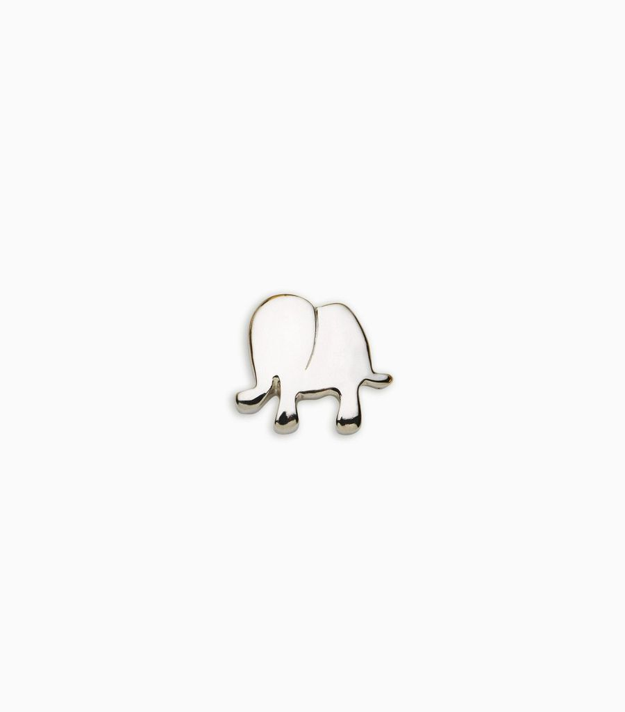 white gold, 18kt, elephant