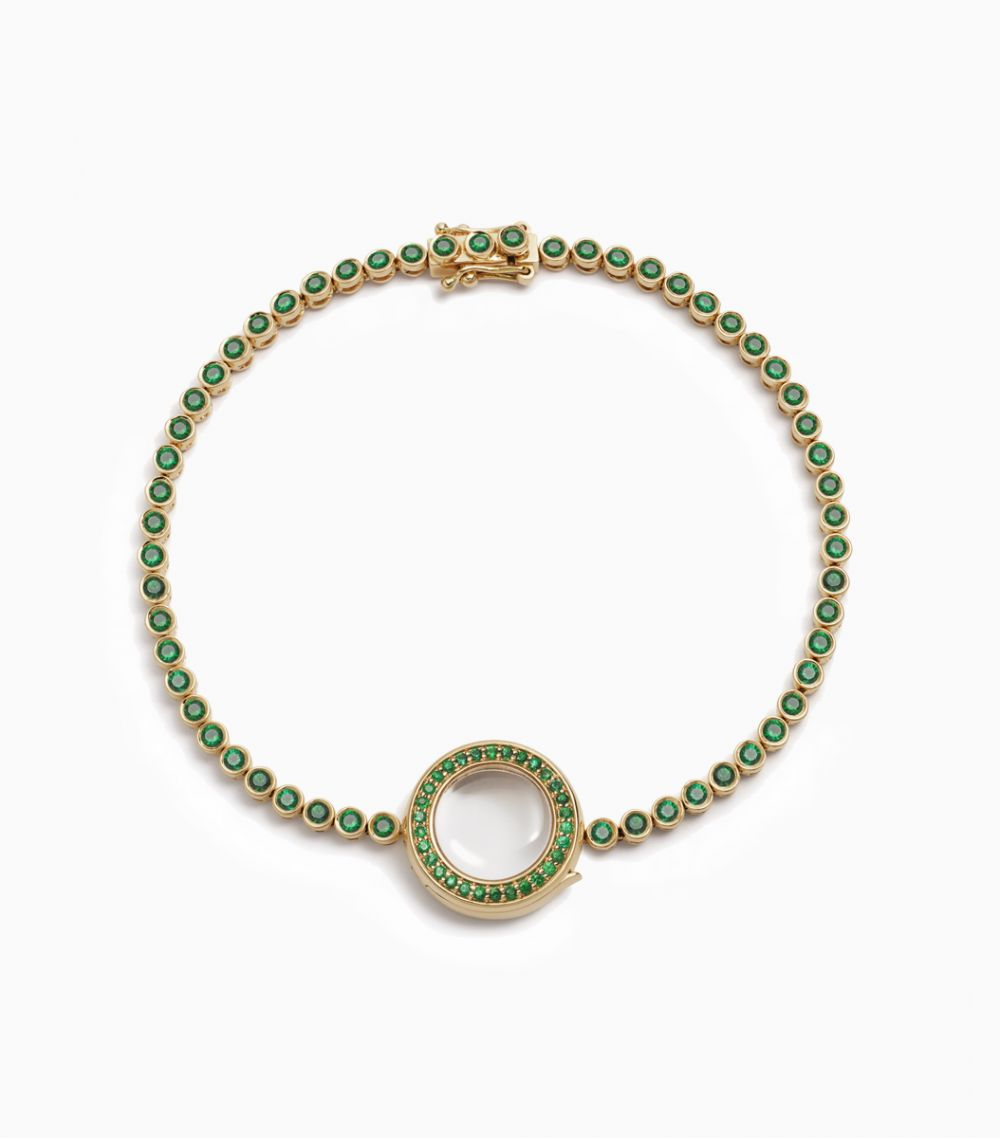 Emerald Locket Bracelet