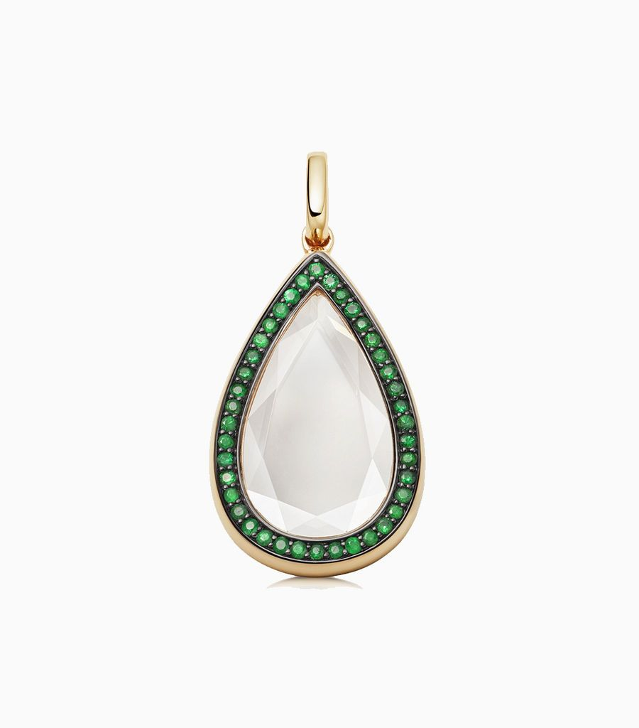 Emerald Saffron Locket Pendant