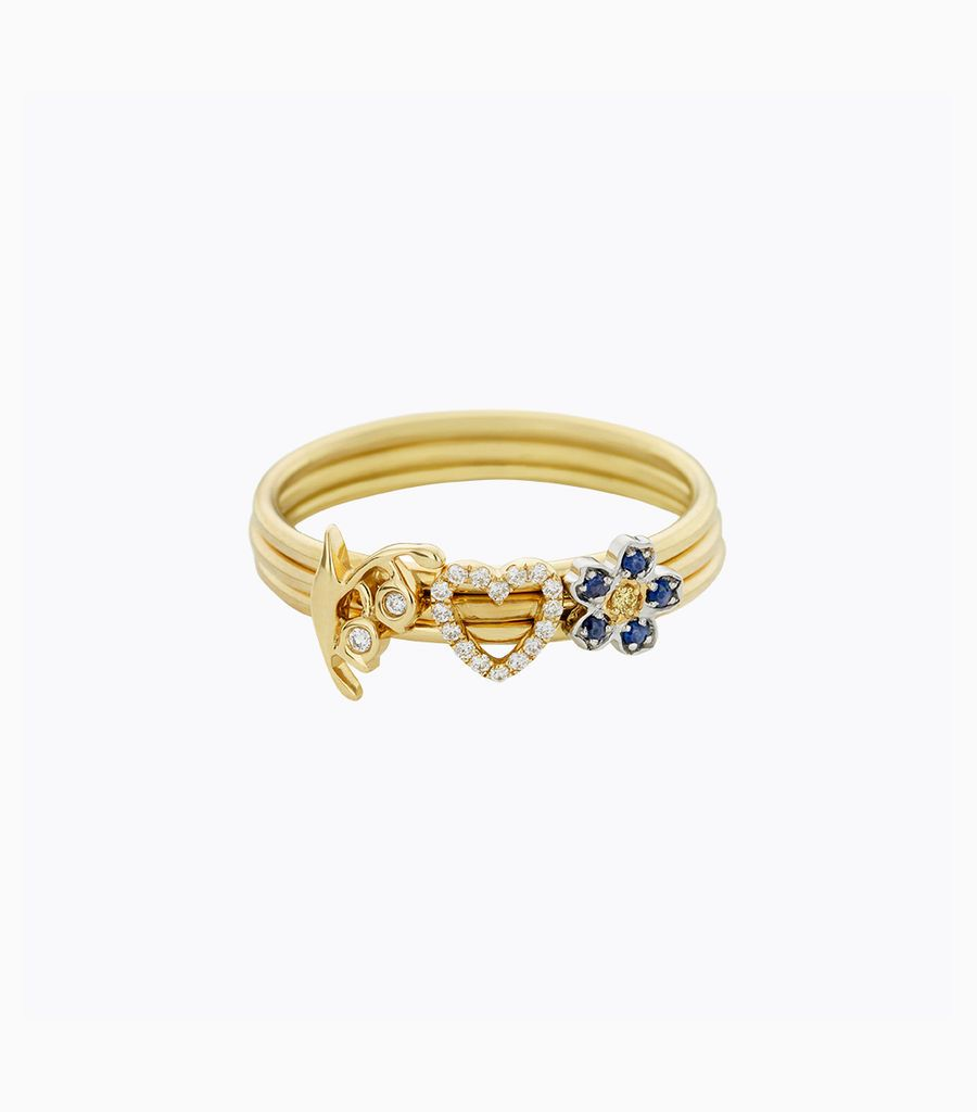 Forget Me Not Puzzle Ring Size 52