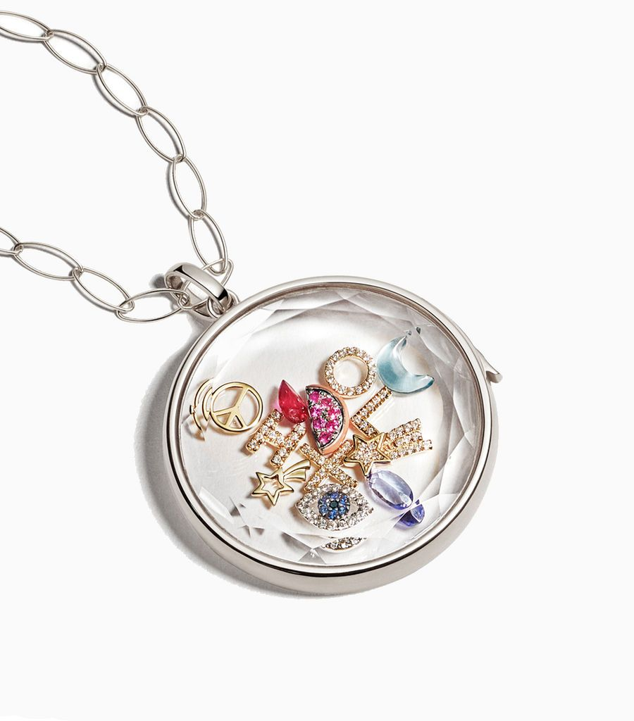 The Jupiter Locket Pendant in White Gold