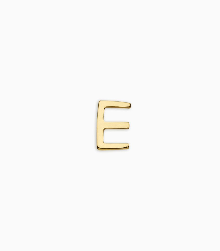 Letters, yellow gold, 18kt, e