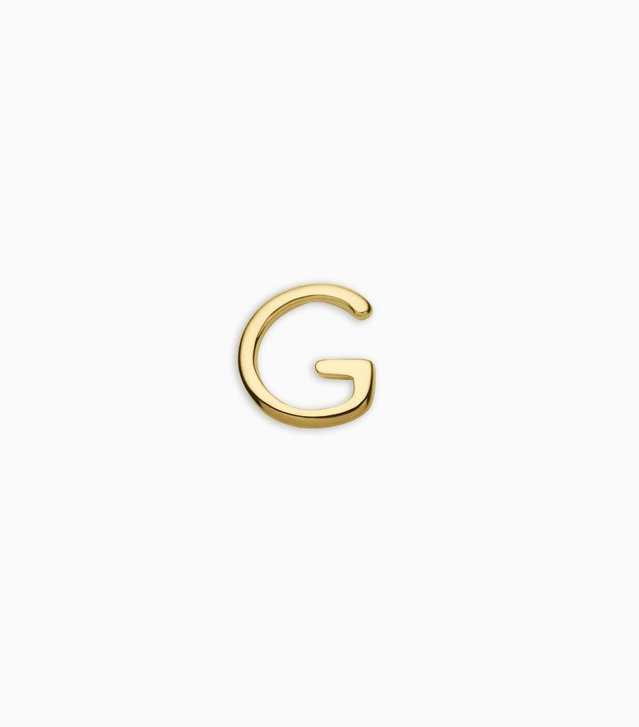 Letters, yellow gold, 18kt, g