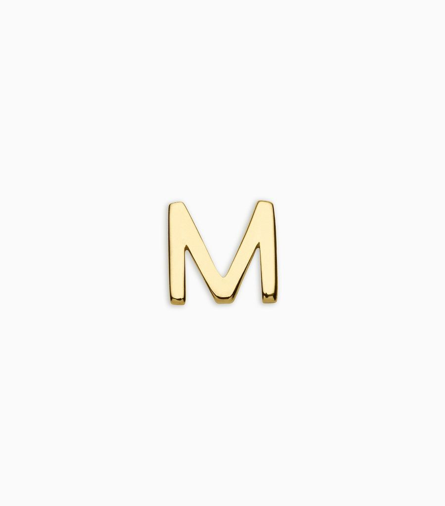 Letters, yellow gold, 18kt, m