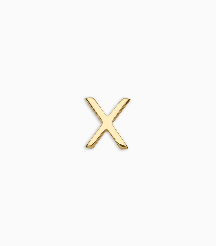 Letters, yellow gold, 18kt, x