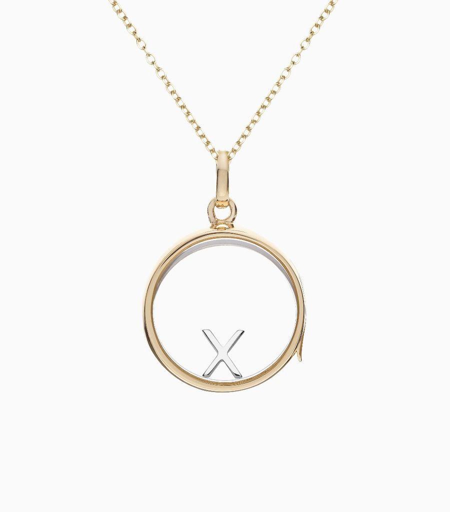 X White Gold Letter