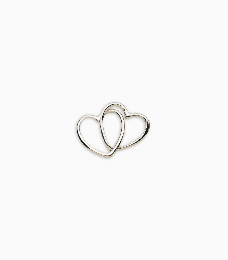white gold, 18kt, linked hearts
