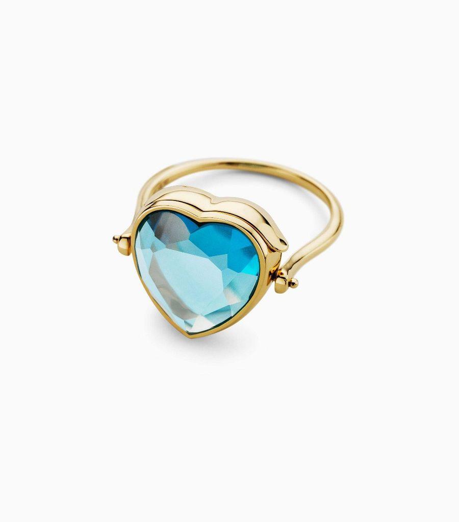 Medium heart topaz ring