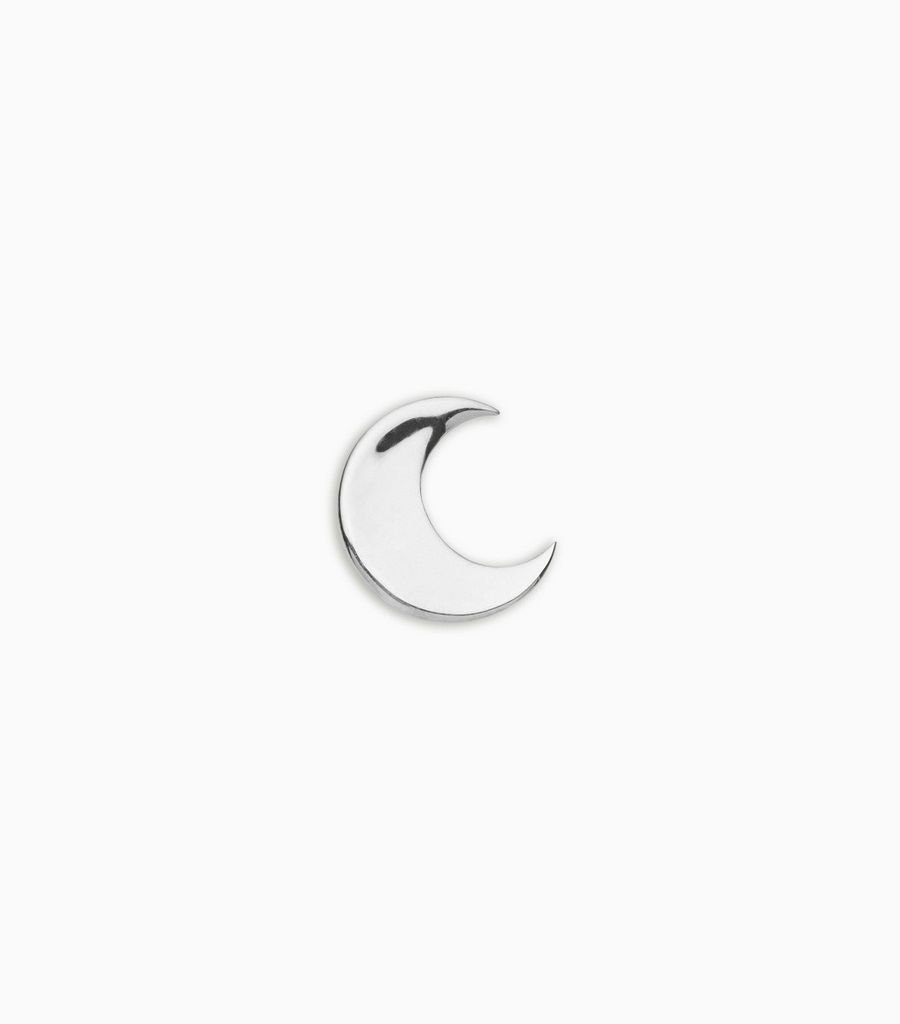 white gold, 18kt, moon