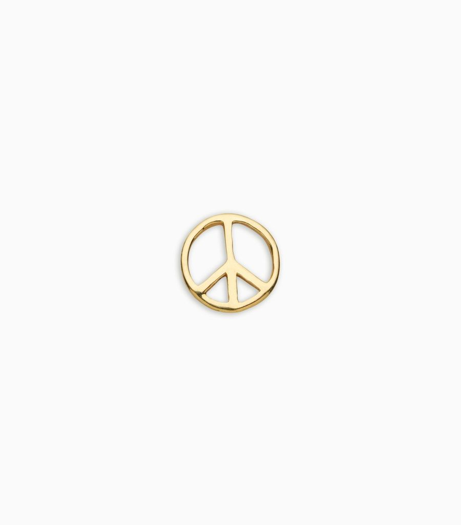 Friendship, yellow gold, 18kt, peace sign