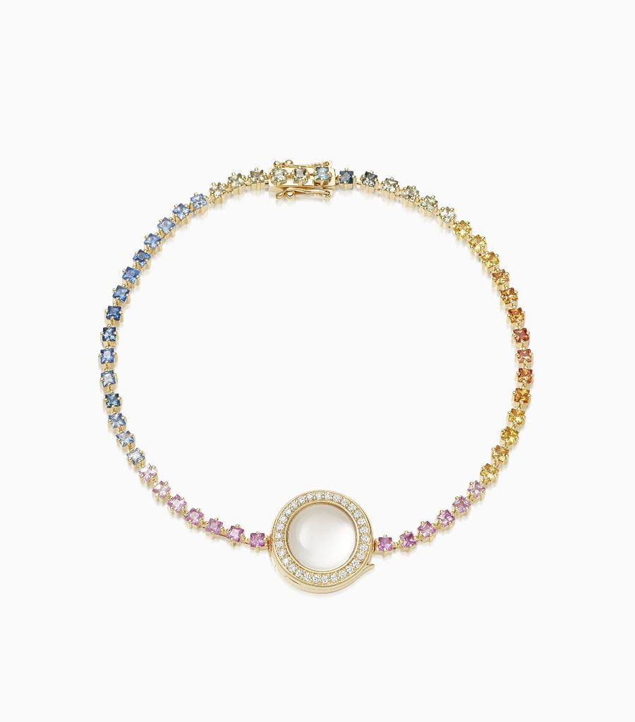 Rainbow Gold Locket Bracelet