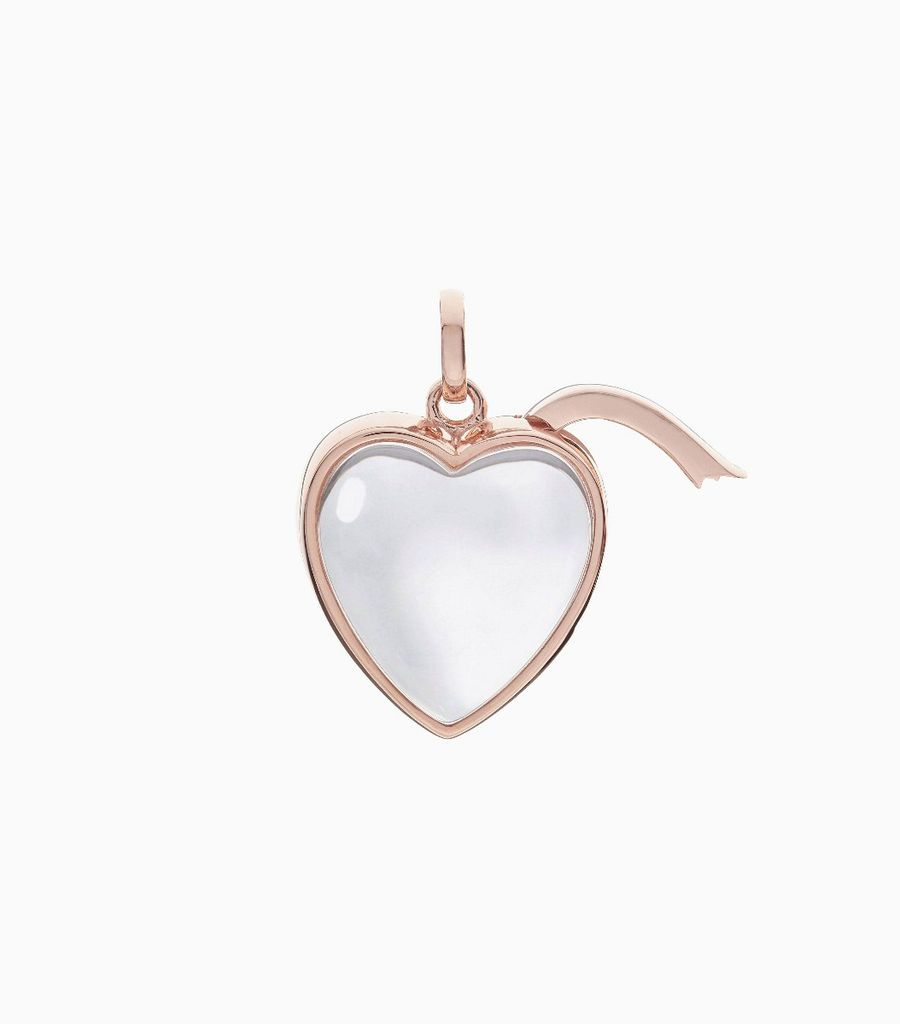 Medium Heart Shape Locket Pendant Rose Gold