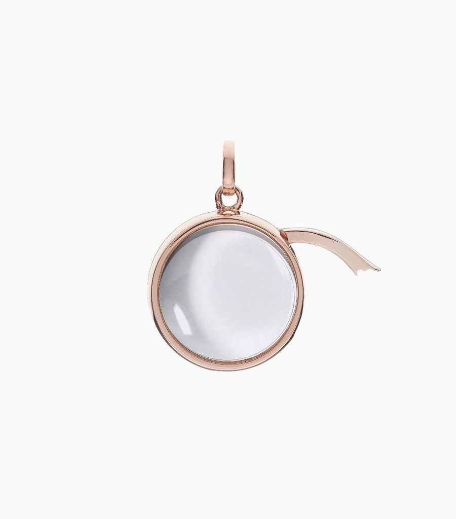 Medium Round Locket Pendant Rose Gold