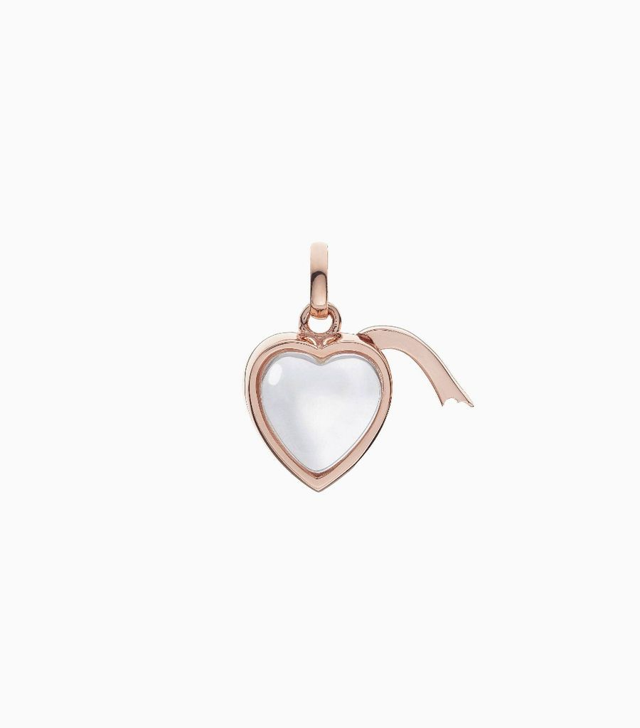 Small Heart Shape Locket Pendant Rose Gold