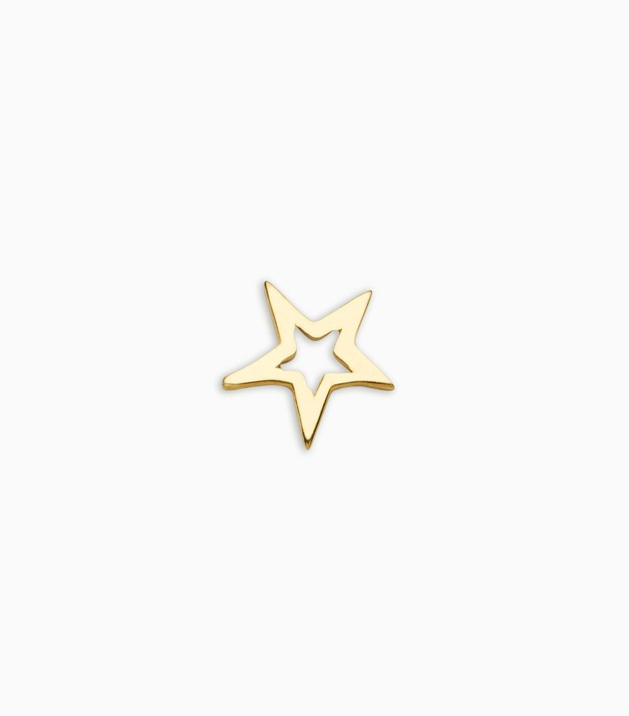 Dreams/nature, yellow gold, 18kt, star