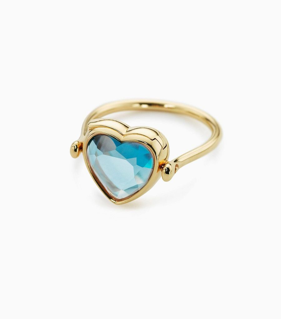 Small heart topaz ring
