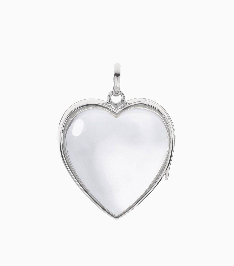 Large heart locket White Gold