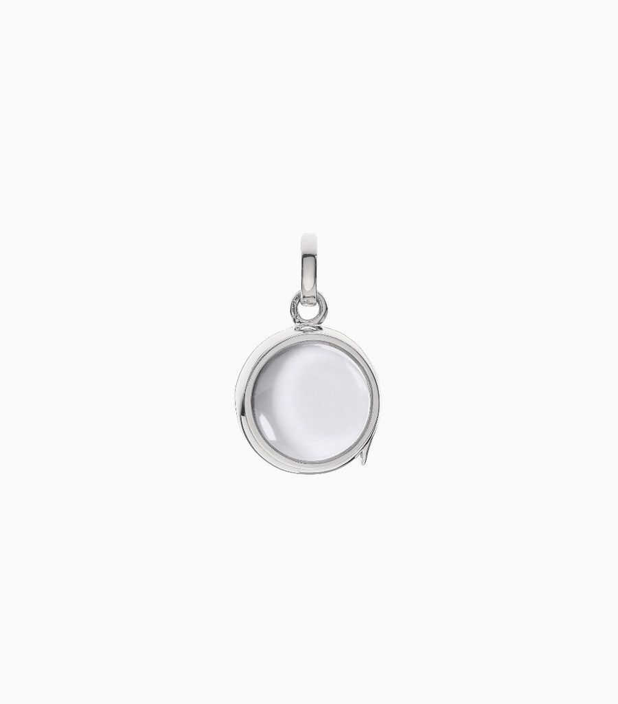 Small round locket White Gold