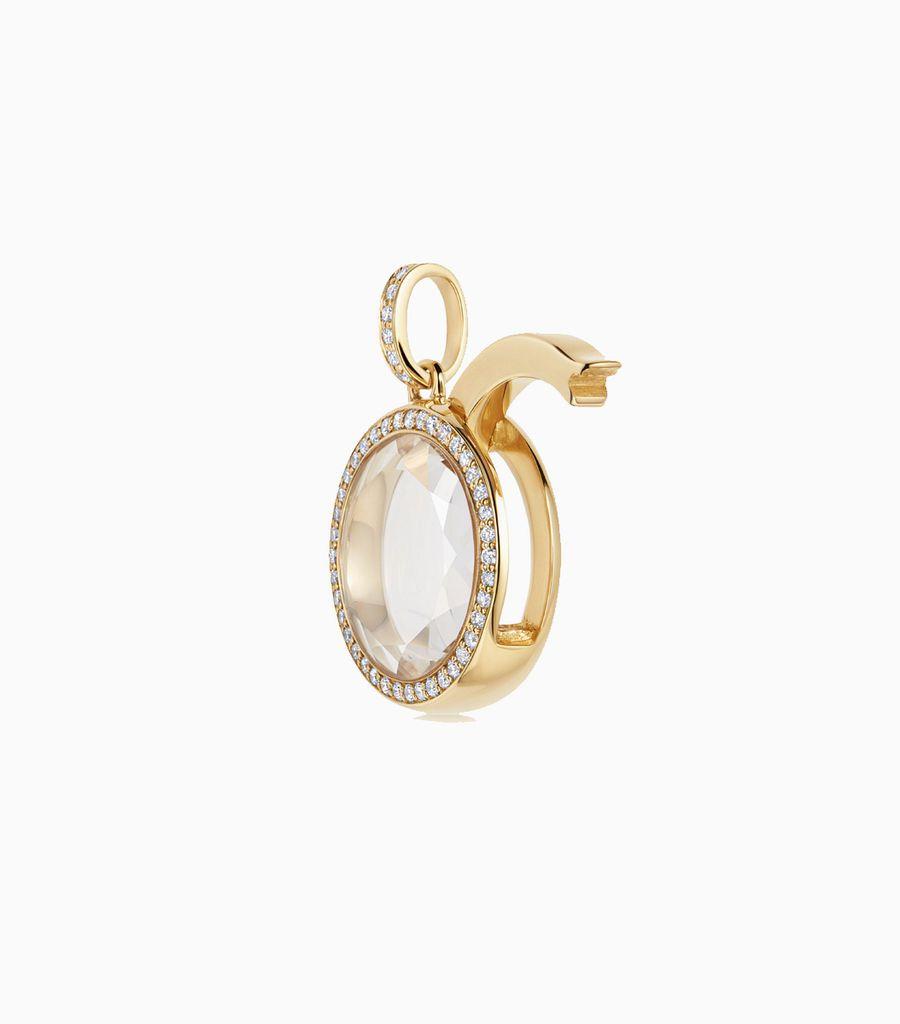 The Diamond Locket Pendant in Yellow Gold