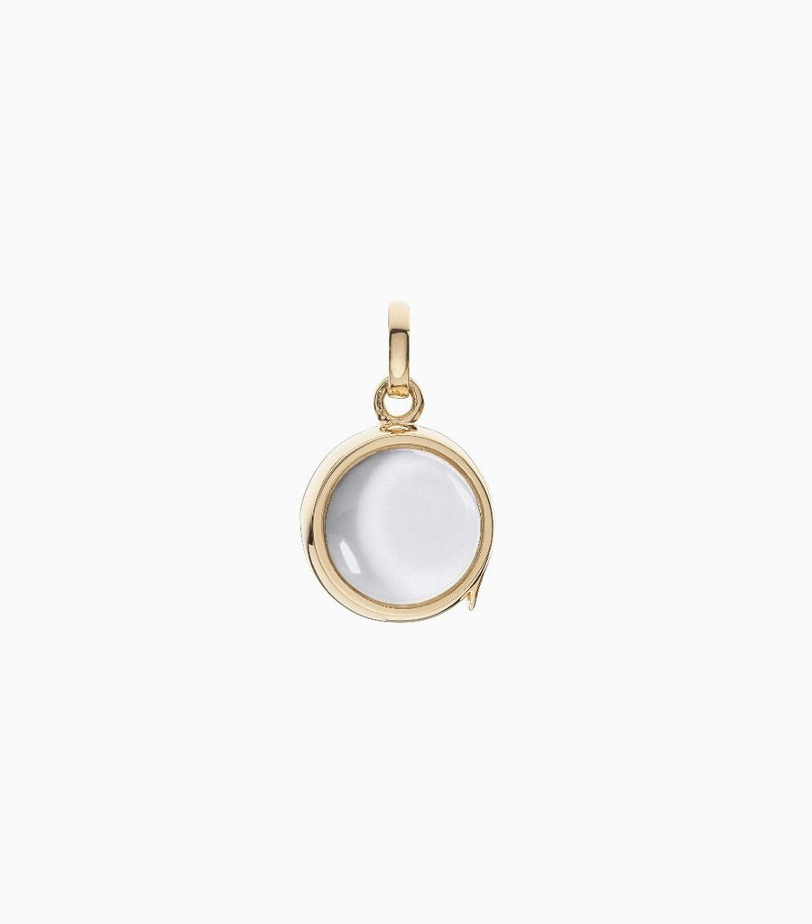 Small Round Gold Locket Pendant
