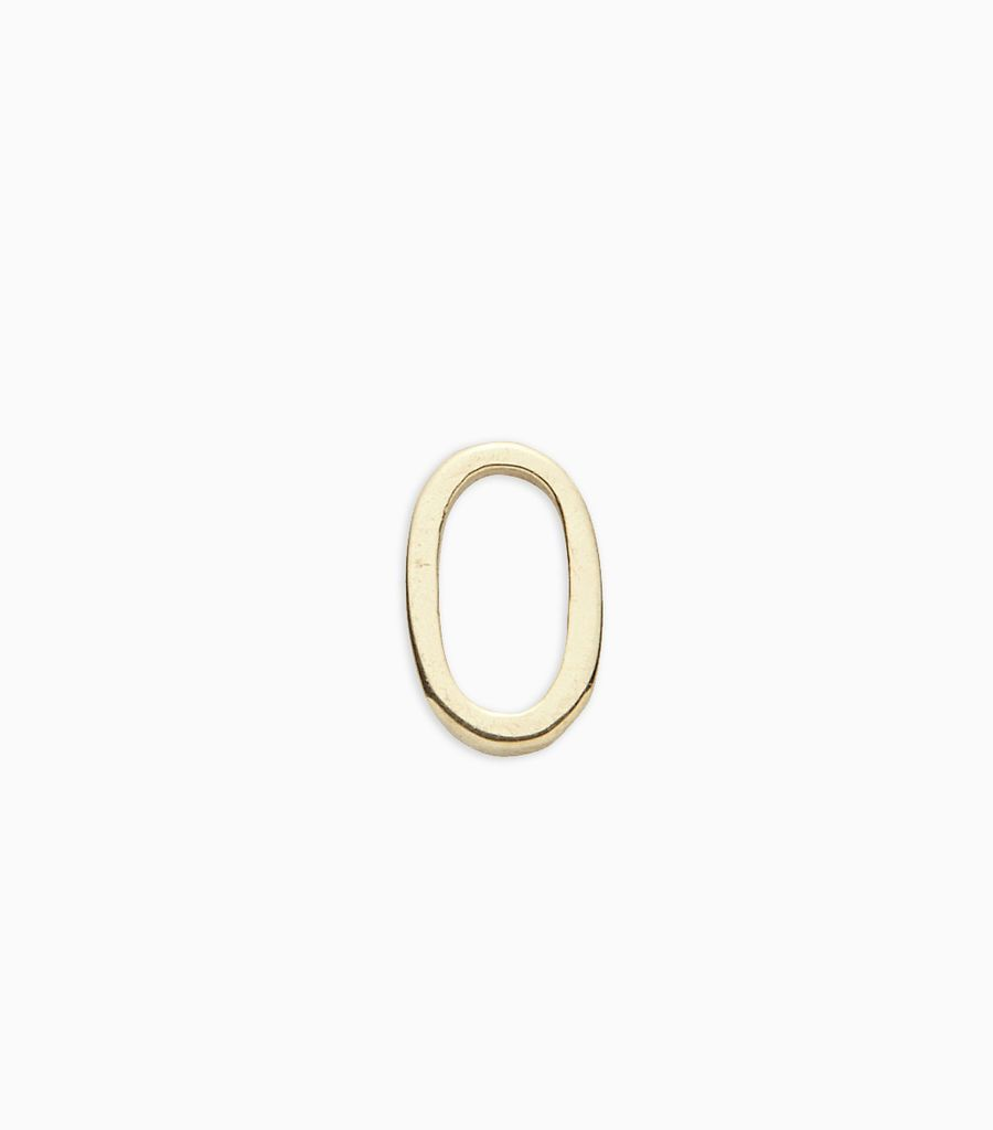 Numbers, yellow gold, 18kt, 0