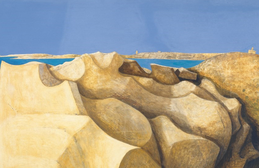 Rocks, St Mary's, Scilly Isles by Wilhelmina Barns-Graham, 1953